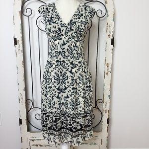 Evan-Picone black print dress size 4